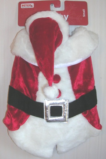 Dog Santa Suit Costume Small