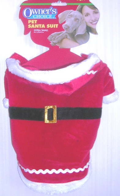 Pet Dog Santa Suit XSmall Owner's Choice