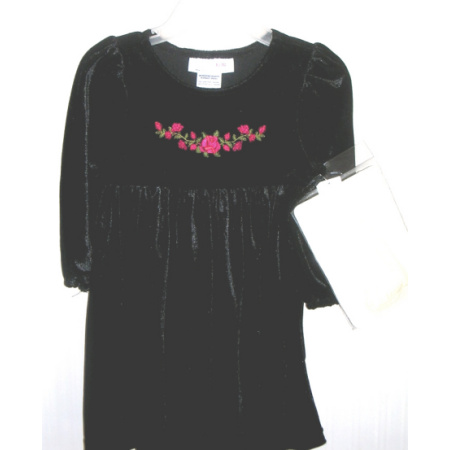 Christmas Holiday Dress Black Velvet 18 Months
