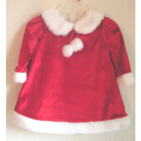 Christmas Holiday Dress Red Velour 6 - 9 Months
