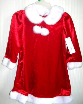 Christmas Holiday Dress Red Velour 3T