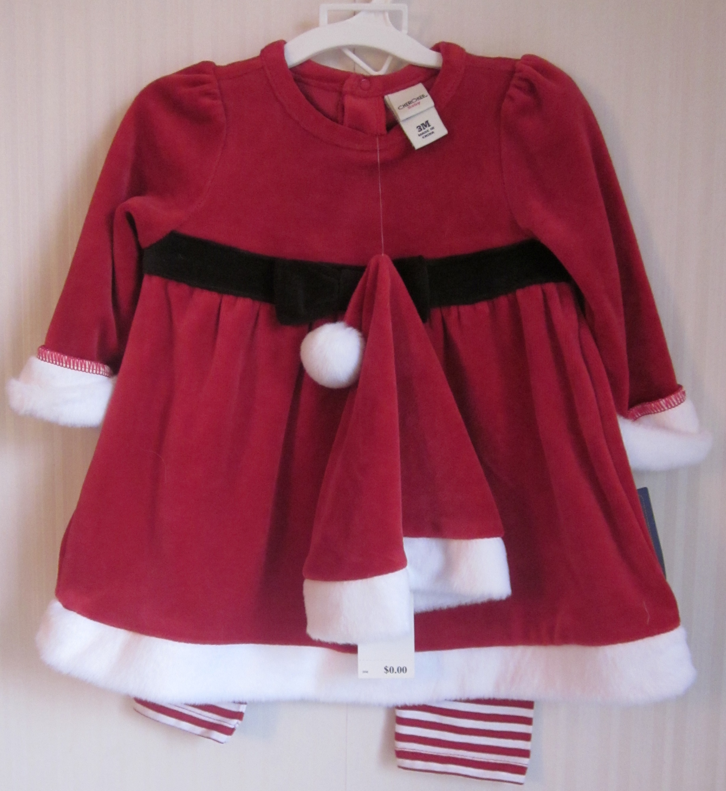 Santa Dress with Hat and Pants by Cherokee 3M