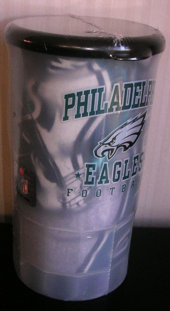 Philadelphia Eagles Plastic Mug with Grey Tee Set Large