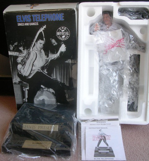 Elvis Presley Telephone Animated Sings and Dances Telemania