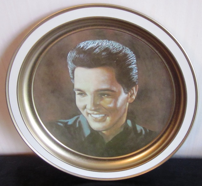 Elvis Excerpt From Eulogy Plate Plaque Gold Tin
