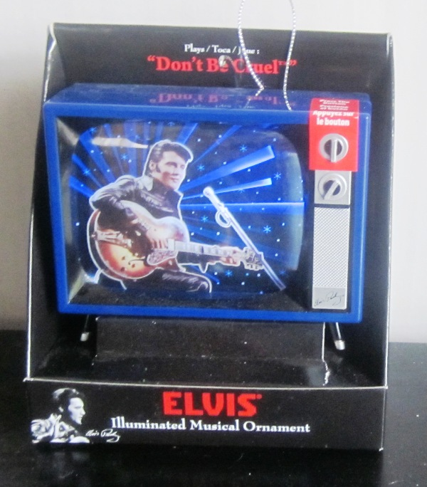 Elvis Presley Illuminated Musical Ornament TV Don't Be Cruel