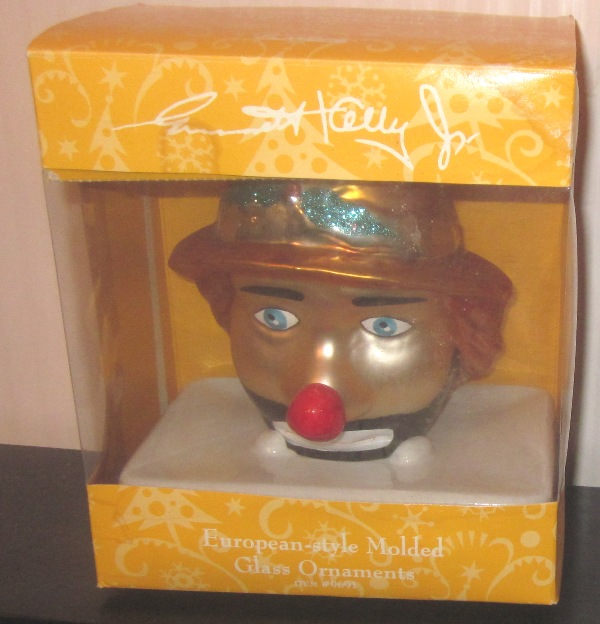 Emmett Kelly Jr European Style Molded Glass Ornament Head 9691