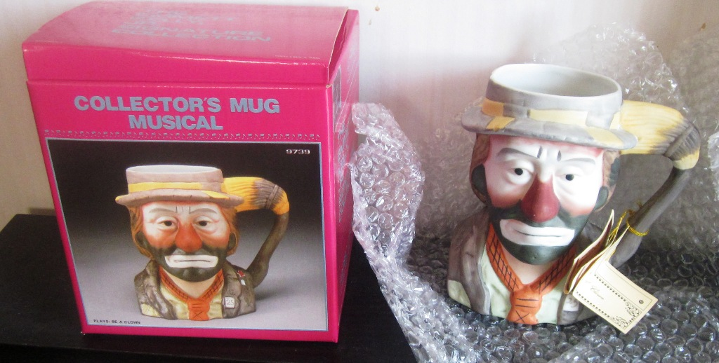 Emmett Kelly Jr Musical Mug 9739 Plays Be A Clown by Flambro