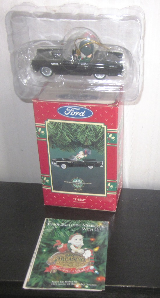 40 Anniversary Ford T-Bird Thunderbird Ornament Black Enesco