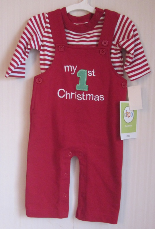 My 1st Christmas Overall Set Boys Nb by Circo