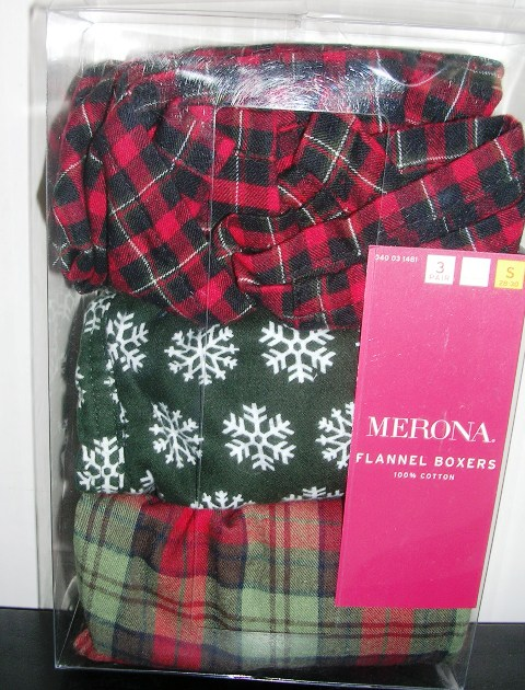 Mens Flannel Boxers 3-pk by Merona Set of 3 Small