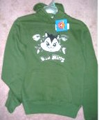 Licensed Looney Tunes Pussyfoot Cat Hooded Fleece Small