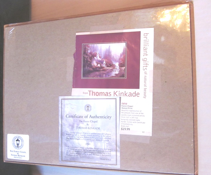 Thomas Kinkade The Forest Chapel Print Media Arts COA