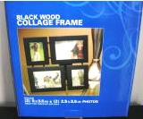 Collage Frame Black Wood Tabletop 5 x 3.5 2.5x 3.5