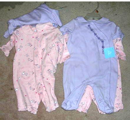 Girls 3-6 Months Layette Onepiece Long Sleeve Long Pants