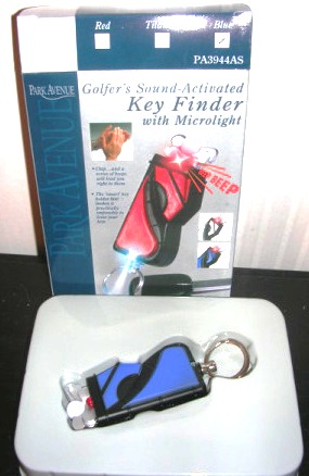 Sound Activated Key Finder with Microlight Golf Bag Blue