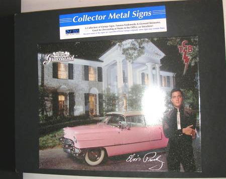 Tin Sign Metal Sign Elvis Presley Graceland