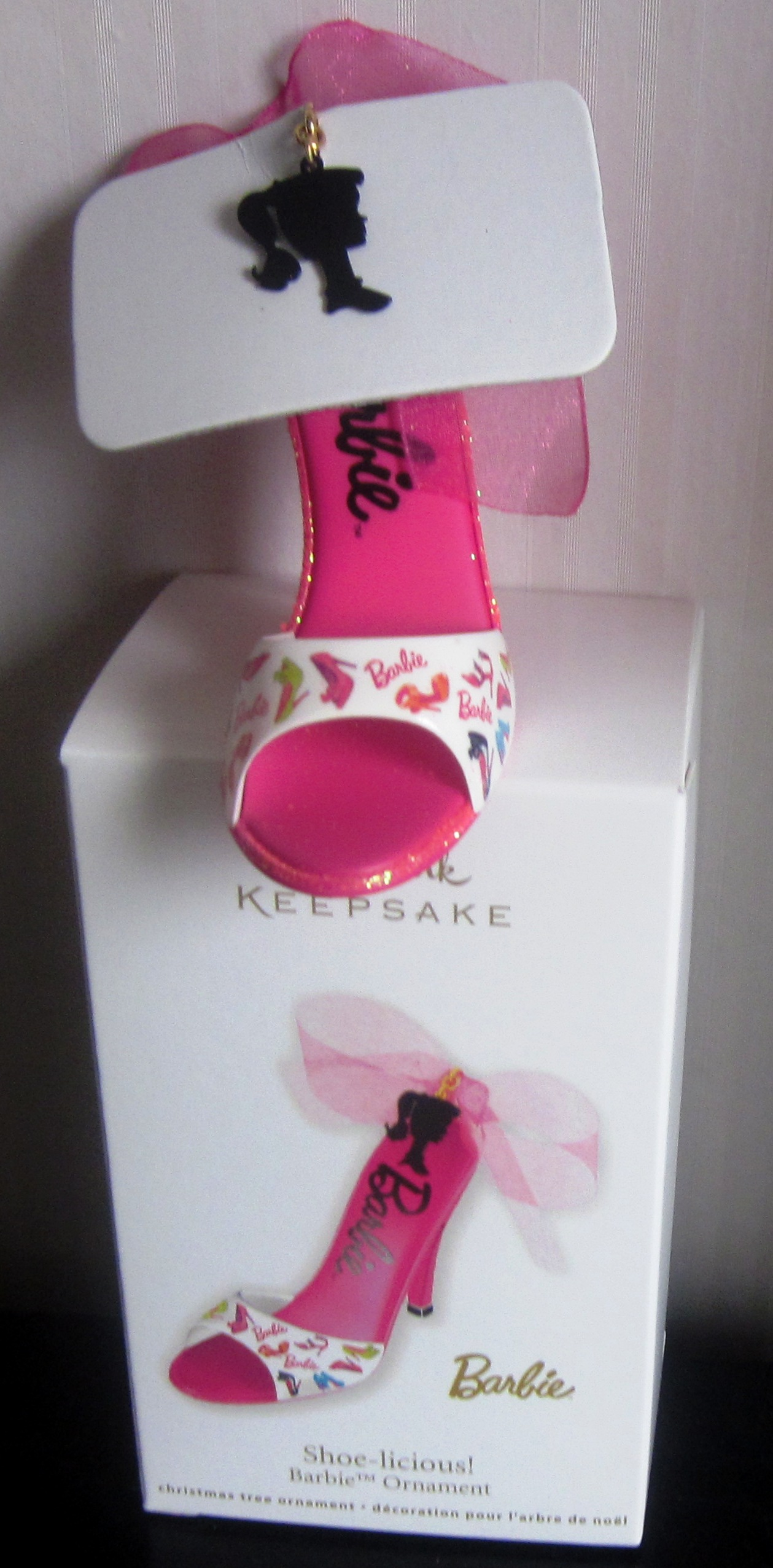 Hallmark Keepsake 2012 Barbie Shoe-licious Pink Shoe Ornament