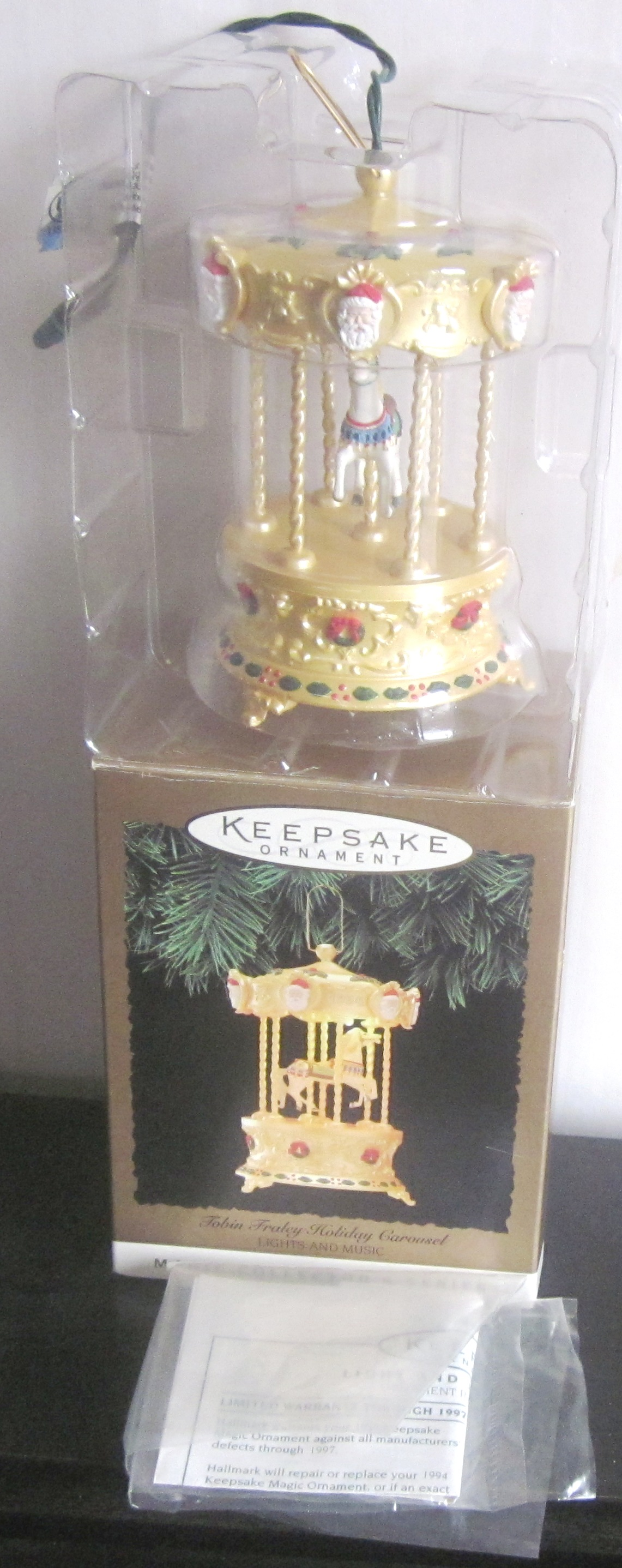 Hallmark Keepsake Ornament Tobin Fraley Holiday Carousel