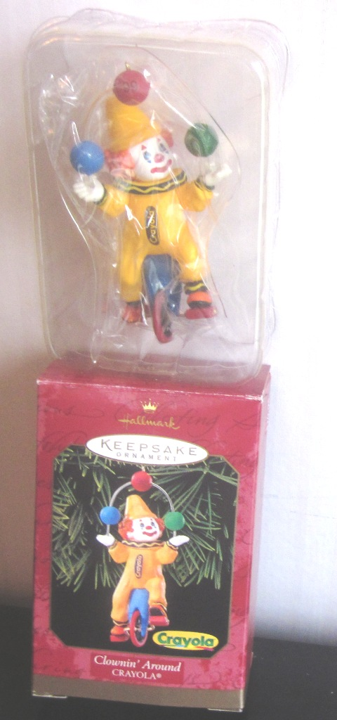 Hallmark Keepsake Ornament Crayola Clowin Around 1999
