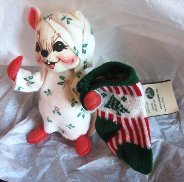 "Annalee 2000 7"" Hang My Stocking Mouse 773900"