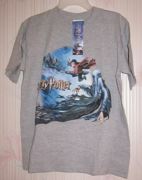 Harry Potter Prisoner of Azkaban Grey T Tee Shirt Death Eater