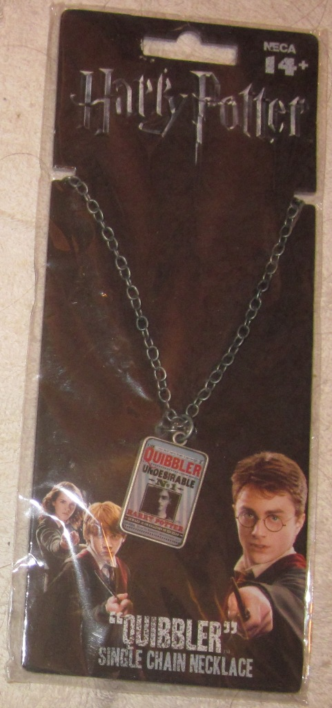 Harry Potter Quibbler Single Chain Necklace Undesirable No. 1
