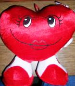 Valentine's Day Heart Shaped Pillow Girl Heart