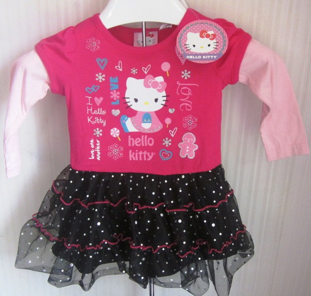 Hello Kitty tutu dress black tulle skirt 18 Months