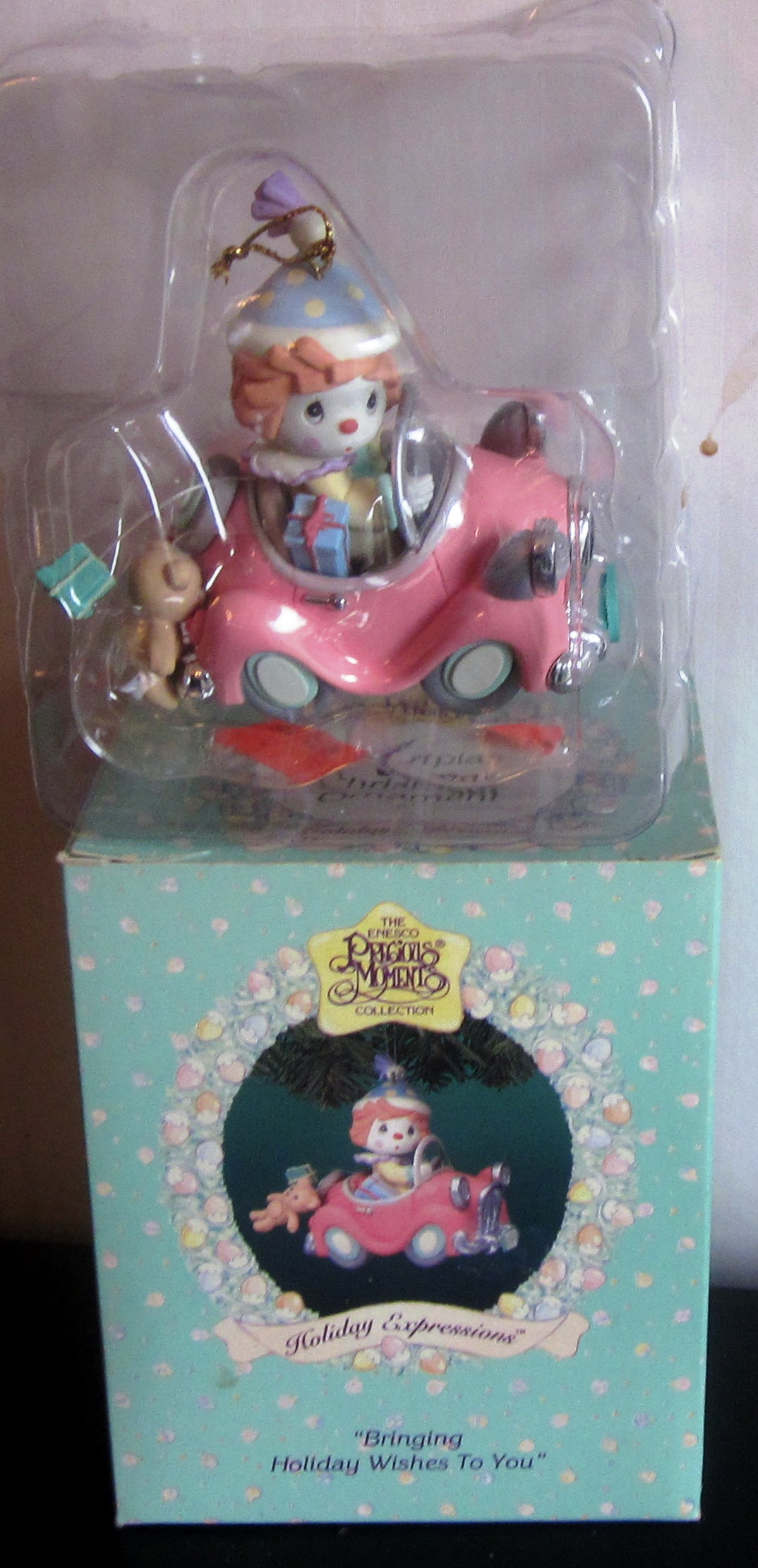 Precious Moments Bringing Holiday Wishes to You Ornament Clown