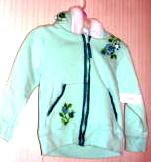 Wonderkids Girls Sweatshirt Zipper Hood Size 24 Months