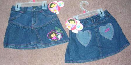 Dora The Explorer Denim Skirt Size 6