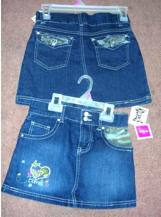 Disney Kids Bambi Stretch Denim Skirt Size 6X