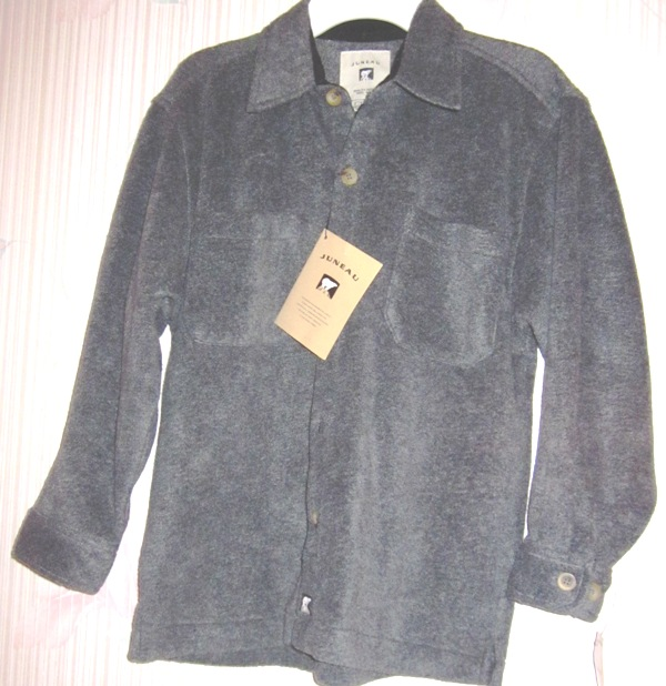 Juneau Boys Soft Fleece Button Shirt Gray Grey 8/10
