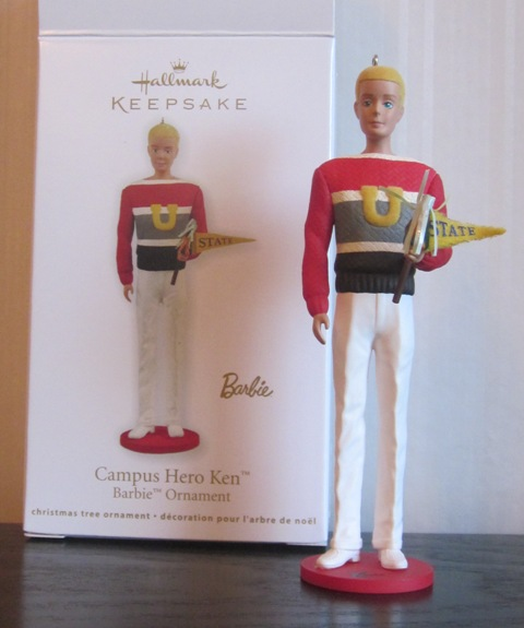 Hallmark Keepsake Campus Hero Ken Barbie Ornament
