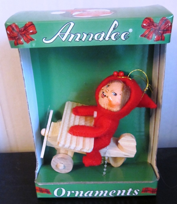 Annalee Ornament Kid On Airplane