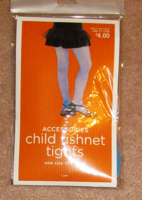 Child Fishnet Tights Blue One Size fits Most