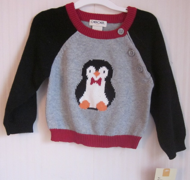 Cherokee Knit Sweater Penguin 6M
