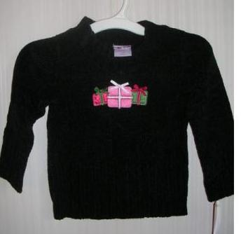 Black Mock Neck Sweater Girls 24 Months