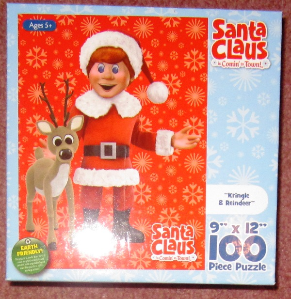 Santa Claus Is Comin To Town 100 Piece Puzzle Kringle Reindeer