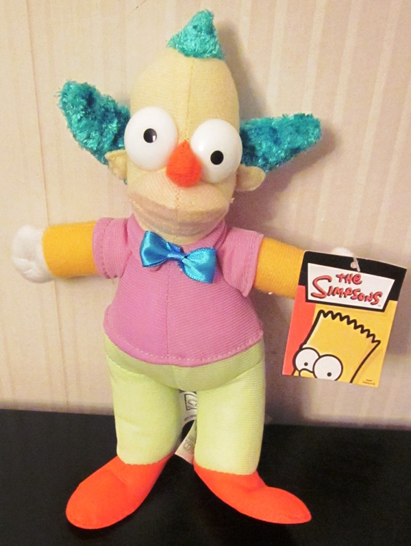 The Simpsons Krusty the Clown Plush Stuffed 9 Inches