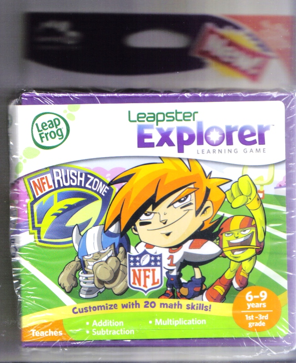 Leap Frog Leapster Explorer NFL Rush Zone - Click Image to Close