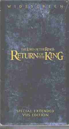 Lord of Rings Return of the King Special Extended VHS Edition