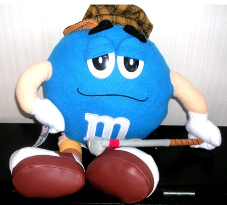 M and M Blue Plush Stuffed Official Licensed Product