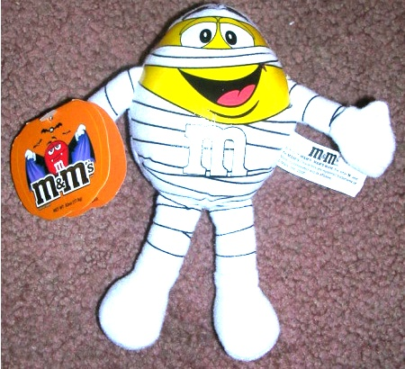 M and M Yellow Mummy Plush Stuffed