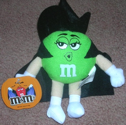 M and M Green Witch Plush Stuffed
