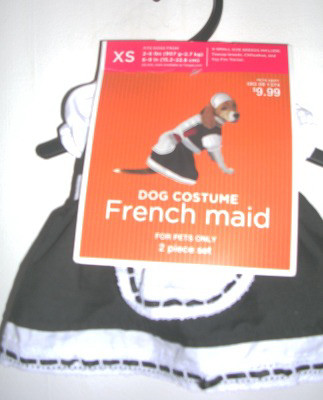Dog Pet Costume French Maid Outfit XSmall