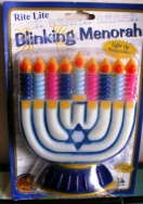 Chanukah Hanukkah Blinking Menorah