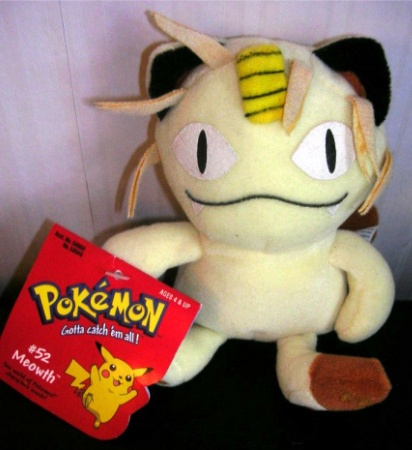 Pokemon Meowth Beanie Plush Stuffed