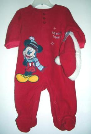 Disney Mickey Mouse Outfit Sleeper Hat 3 - 6 Months